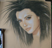 Portrait-crayon-commande-Bill-Kaulitz-Ambroise-Creich