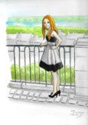 Portrait-de-Léna-Barnes-couleurs-aux-encres